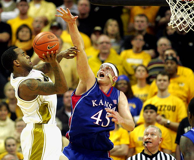 Tied with Oklahoma atop the Big 12, Cole Aldrich (pictured) and the Jayhawks face one of their last big tests when Missouri comes calling. As the calendar officially turns to March, tournament seeding is on the line in a game that would break a logjam atop the conference.