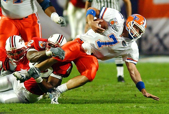 Led by QB Brock Berlin (pictured) -- who never won the starting job with the Gators and eventually transferred to Miami -- this class boasted solid players like TE Ben Troupe and DB Guss Scott, but didn't live up to its top ranking. The class finished with a 43-20  five-year record under Steve Spurrier (who left after the 2001 season) and Ron Zook. On the plus side for Gators' fans, the team's 7-5 record in '04 opened the door for Urban Meyer to take over. <br><br> Top classes from 2002-09 are according to Rivals.com.