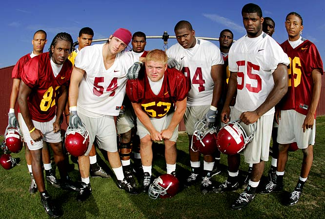 This class (pictured), anchored by players like OL Taitusi Lutui, LB Keith Rivers and receiving targets Dwayne Jarrett and TE Fred Jones, joined the glut of skill players (including Reggie Bush, LenDale White, John David Booty and Matt Leinart) already at USC. The '04 class won just one national championship ('04), but racked up a 59-6 five-year record, won three Rose Bowls and never finished lower than No. 4 in the AP rankings.