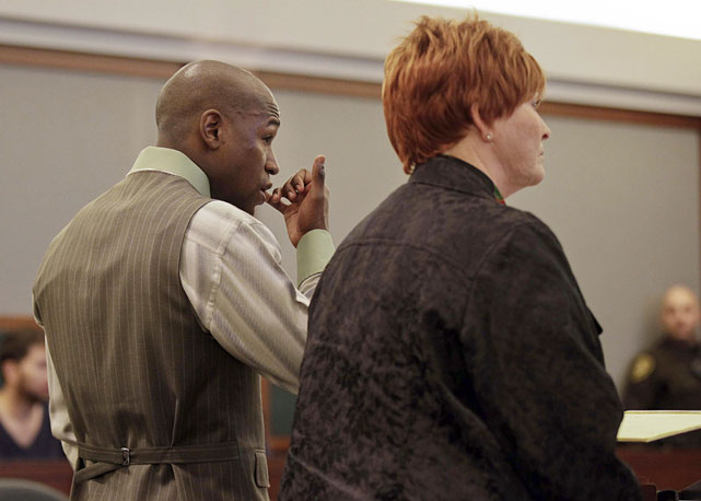 Mayweather was sentenced to six months of jail time (with three months to be suspended) on Dec. 21, 2012, after pleading guilty to misdemeanor battery domestic violence and harrassment charges stemming from a 2010 incident with the mother of his children.