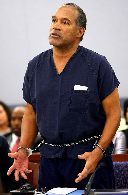 Hall of Fame running back O.J. Simpson was sentenced up to 33 years in prison after being found guilty of armed robbery, kidnapping and several other charges.