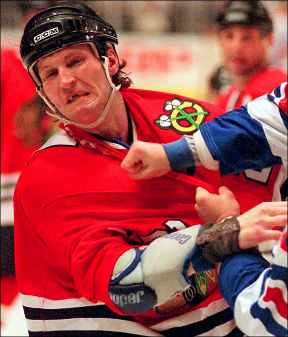 One of the most renowned fighters in NHL history, Probert served 90 days in jail after being convicted of smuggling cocaine across the U.S.-Canadian border.