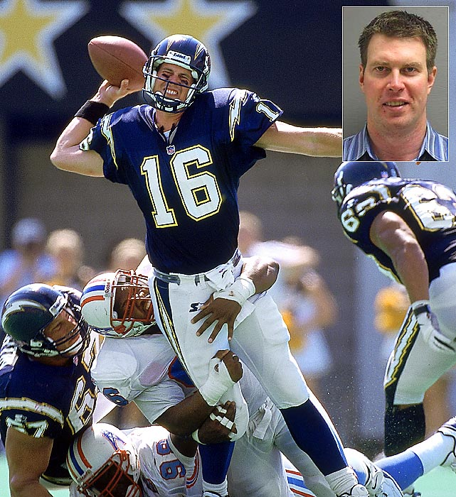 Former NFL quarterback Ryan Leaf, taken one pick after Peyton Manning in the 1998 NFL Draft, was sent to Montana state prison In January 2013 after being kicked out of a residential drug program. The strong-armed quarterback from Washington State was at the rehabilitation center to start a five-year prison term. He would have been in line to serve only about 15 months of his sentence if he had successfully completed the rehab program. One of the violations that got him kicked out of the rehab program was threatening a staff member.