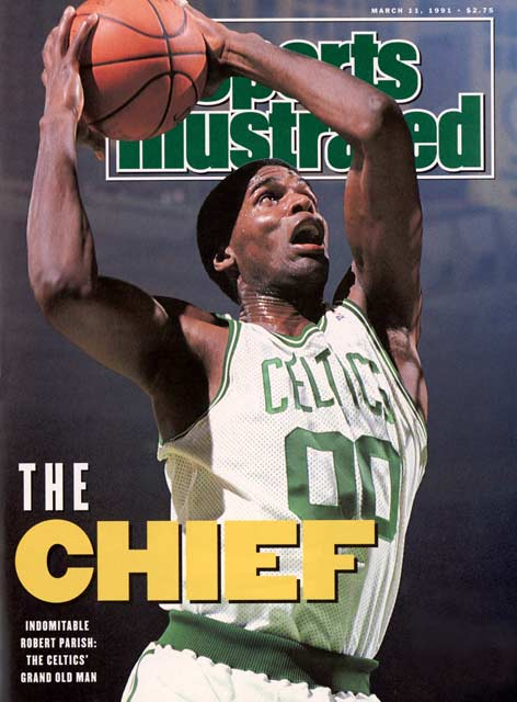 Boston's Robert Parish scores 18 points and grabs 14 rebounds in a 105-93 win over Philadelphia, his 1,304th NBA game. That benchmark moves Parish into second place on the all-time games played list, trailing only Kareem Abdul-Jabbar's 1,560 games.