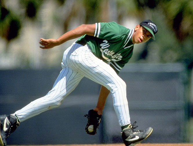 In 100 games at Miami's Westminster Christian Academy, Alex Rodriguez batted .419 and stole 90 bases. After leading Westminster to a national championship in his junior year, he signed a letter of intent to play baseball at the University of Miami (though he never actually enrolled).
