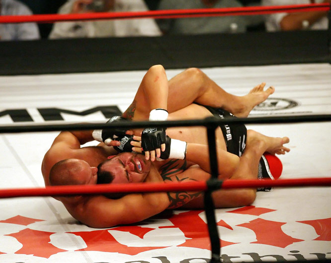 Russian heavyweight and WAMMA champ Fedor Emelianenko (bottom) is revered by many as the top fighter in all of mixed martial arts. And his ground game has played a major role in his success, including this win over Tim Sylvia at Affliction's inaugural card.