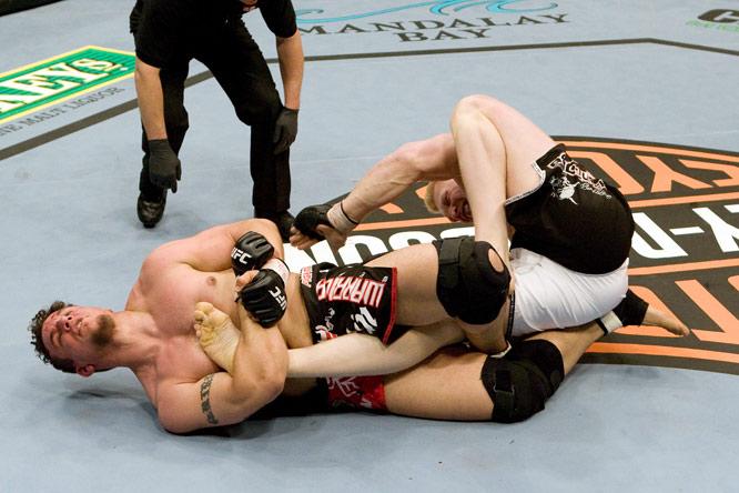 A state champion wrestler, Frank Mir (far left) is the current UFC interim heavyweight titleholder.