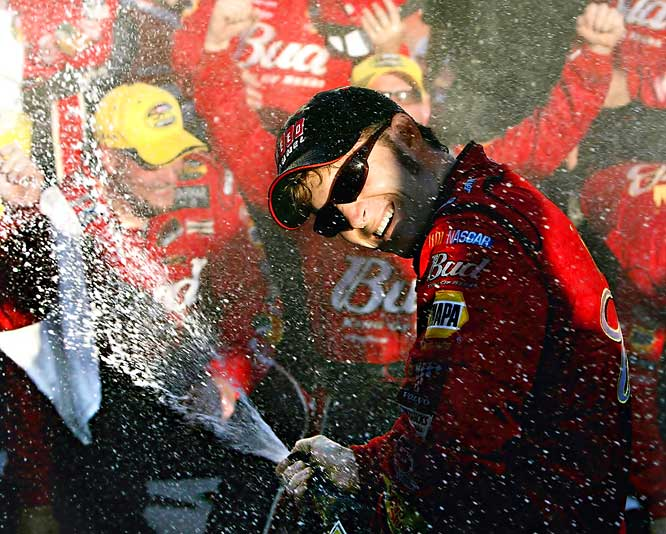 "People lose championships in sports on last-second shots, an interception, a home run ... but how about a potty mouth? Dale Earnhardt, Jr. smoked the field at Talladega in October 2004, then told a TV audience of millions the win -- ""Don't mean s--- right now. Daddy's won here 10 times."" It was an innocent slip of the tongue, but in NASCAR's family atmosphere, Earnhardt was proven guilty. To teach him a lesson, the sport took away 25 championship points, and Junior wound up slumping to fifth in the final standings."