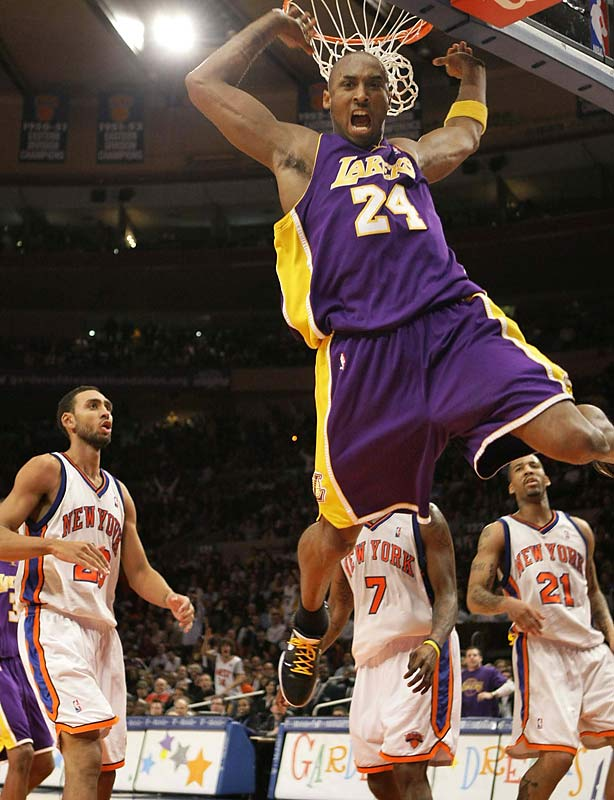 "Serenaded with ""MVP!"" chants throughout the game, Kobe broke by one point Bernard King's Madison Square Garden scoring record. Bryant hit 19-of-31 from the field and all 20 of his free throws in the Lakers' 126-117 victory. This was Kobe's fifth career 60-point performance, one more than Michael Jordan."