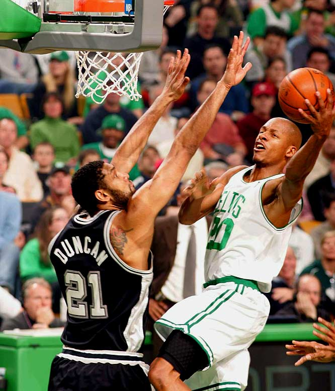 Three days after facing the West's No. 1 team (the Lakers) at home, the Celtics play host to the No. 2 team. After this nationally televised contest, Boston will not have another home game for 19 days.