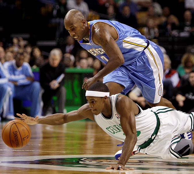 Denver handed Boston a rare home loss back on Nov. 14, an early statement about Chauncey Billups' considerable impact on the Nuggets. This matchup of two of the NBA's best has lost a bit of luster because Kevin Garnett is sidelined with a knee injury. Nevertheless, every game is crucial with the Celtics battling Cleveland for home-court advantage in the East and the Nuggets wrestling with San Antonio for the No. 2 seed in the West.