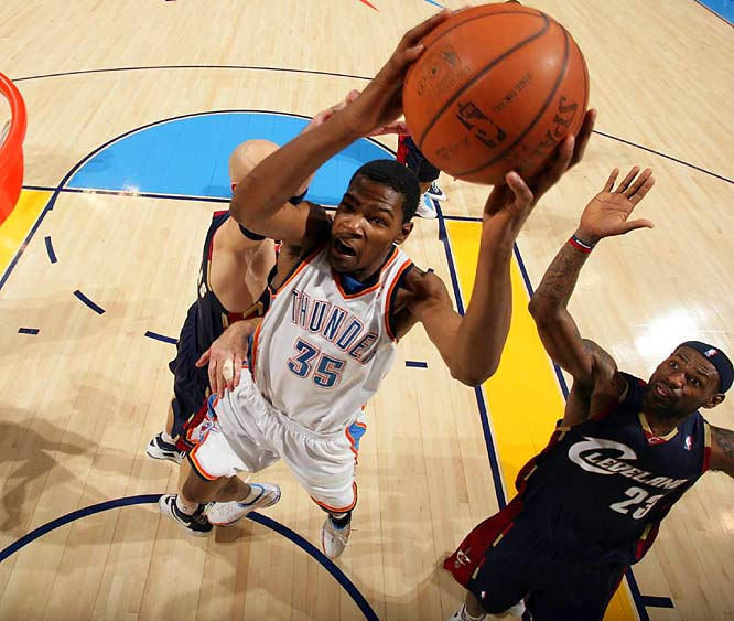 Ignore the teams' records and keep your eyes on Kevin Durant, who looks like a future scoring champion and soon-to-be perennial All-Star. The second-year Thunder forward is averaging 33.2 points on 53.5 percent shooting, and on this night he'll face a Grizzlies team that ranks among the worst in the league in field-goal defense.