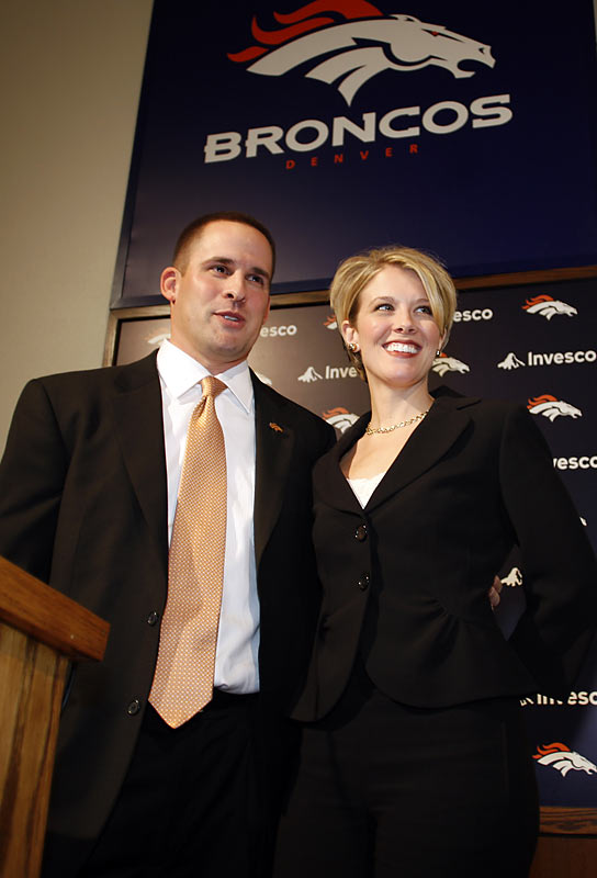 The Broncos stunned the football world when they fired two-time Super Bowl-winning coach Mike Shanahan after 14 seasons. They replaced him with McDaniels, 32, who had previously served as the Patriots offensive coordinator. He is thought to be one of the brightest young minds in the game.
