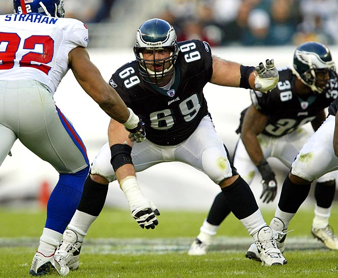 By signing Runyan in 2000, the Eagles got one of the most durable players in the NFL at a position where durability is key.  Runyan started every one of the Eagles' 128 regular season games between 2000 and 2008, and in each of his first five seasons the team won over 11 games.