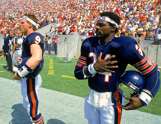 Teamed with quarterback Jim McMahon, Payton rushed for more than 1,500 yards in 1985 as the Bears sprinted to a 15-1 record that culminated in a 46-10 victory in Super Bowl XX.