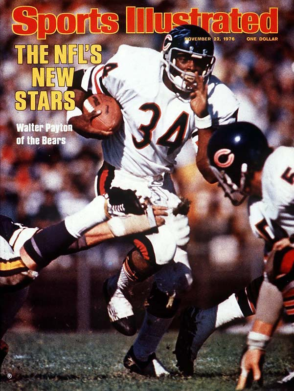 After tallying an NCAA record 65 touchdowns at Jackson State, Walter Payton was selected with the fourth pick of the first round in the 1975 NFL draft. He ran for just 679 yards in his rookie season, but racked up 1,390 yards in his second season, earning his first Pro Bowl bid.