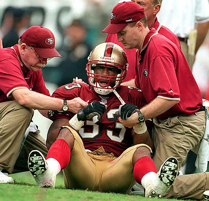Phillips earns a spot on the list for making a catastrophic boneheaded mistake in just half a season with the 49ers. His missed block on cornerback Aeneas Williams ultimately resulted in a career-ending concussion for quarterback Steve Young. Phillips was suspended halfway through the season and released at its close.