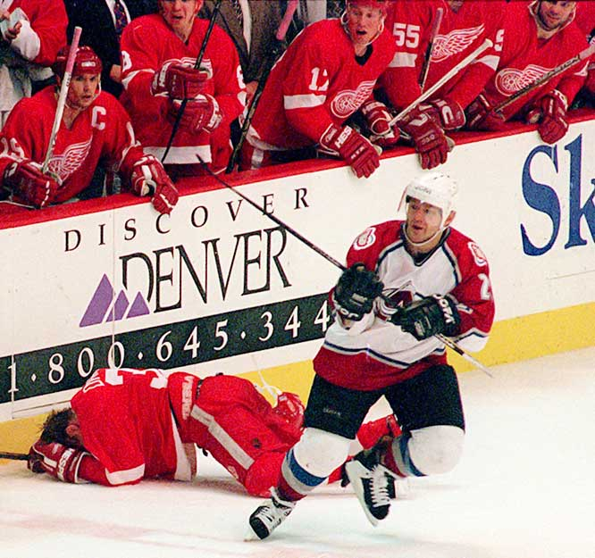 The feisty winger, who attempted a comeback with the San Jose Sharks at age 43 after four seasons in retirement, was often despised by foe and friend alike. Best known for his brawl-inducing hit on Detroit's Kris Draper in the 1996 playoffs and for biting the finger of Calgary's Jim Peplinksi in the 1989 Stanley Cup Final, Lemieux was also renowned for dramatically elevating his play in the postseason, where he scored 19 game-winning goals and won four Cups and a Conn Smythe Trophy.