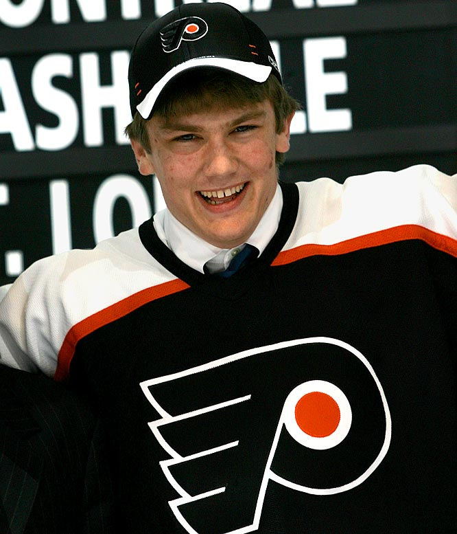 The Flyers' first-round pick of 2007 (second overall) is a useful chip for a cap-squeezed team that wants a serviceable reinforcement for the backline or in net.