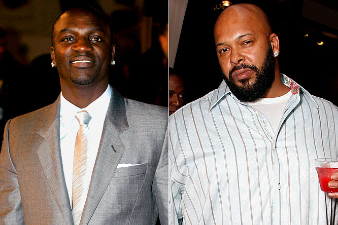 There might not have been a fight between Shaq and Kobe, but Suge Knight got knocked out by one of Akon's representatives at a postgame party the singer was throwing at a Scottsdale hotel Sunday night. Suddenly Knight, who's been knocked out twice in a span of a couple of months, has lost more face than Alex Rodriguez.