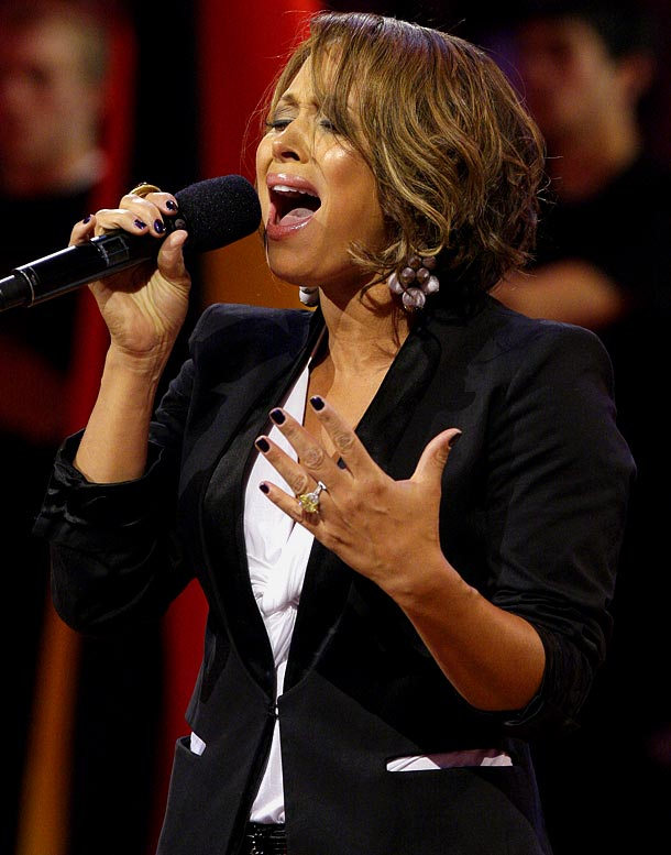 "Easily one of the best renditions of ""O Canada"" the NBA has ever heard was sung by Grant Hill's wife, Tamia, who is from Windsor, Ontario, before the NBA All-Star Game. She completely upstaged Jordin Sparks, who sang the national anthem. If Grant can start playing like Tamia sings, the Suns might have a chance to make some noise in the playoffs."