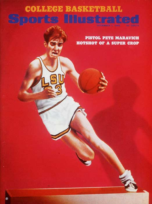 LSU guard Pete Maravich scores 66 points in a 101-94 loss to Tulane.