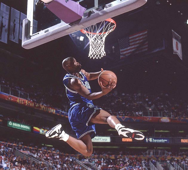 During the NBA's All-Star weekend, Minnesota rookie Isaiah Rider takes first place in the Slam Dunk Contest while Mark Price wins his second straight three-point shootout.