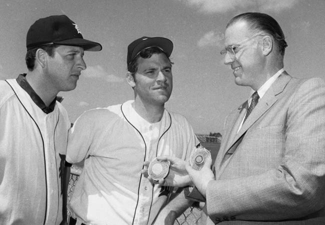 Commissioner Bowie Kuhn announces that effective April 1st, Tiger pitcher Denny McLain will be  punished with a 90-day suspension for his alleged connection with bookmakers.