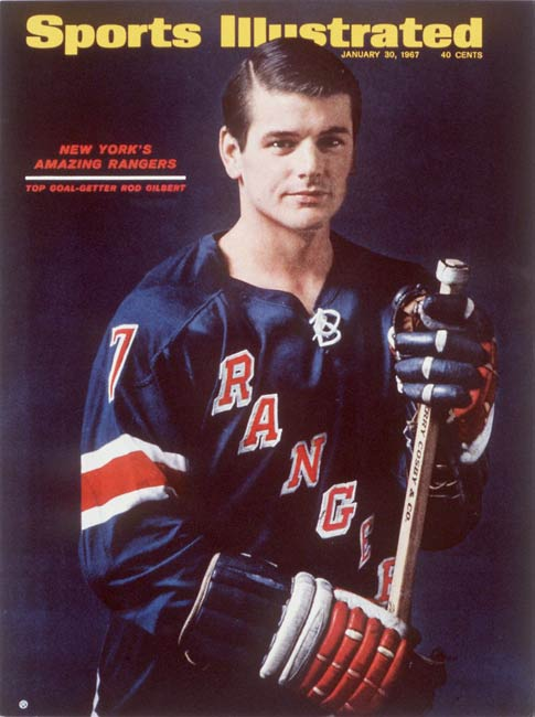 In a 5-2 loss to the Islanders, Rangers forward Rod Gilbert records his 1,000th career point.
