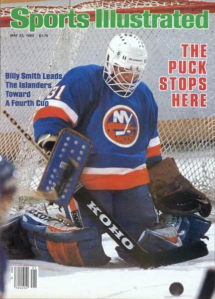 The New York Islanders retire Billy Smith's No. 31 jersey.