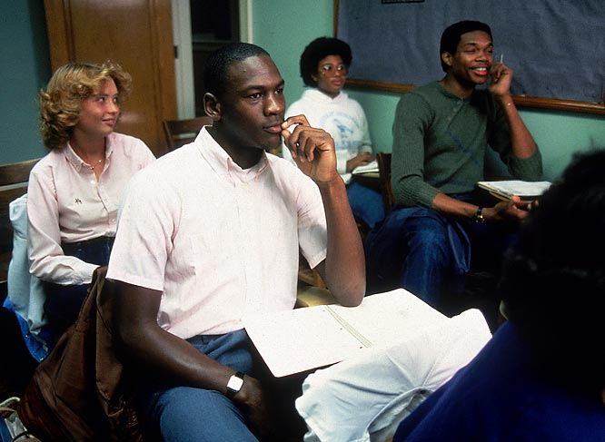 Michael Jordan and Sam Perkins show their studious side. <br><br>Send comments to siwriters@simail.com.