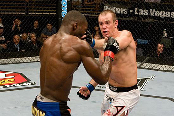 "Anthony Johnson (left) seemed well on his way to a victory over Kevin Burns at UFC Fight Night 14. But that was before Burns landed one nasty eye poke. Many though the fight should have been called ''no contest"" given Johnson's considerable pain, but referee Steve Mazzagatti, who claimed he didn't see the poke, ruled a TKO victory in Burns' favor."