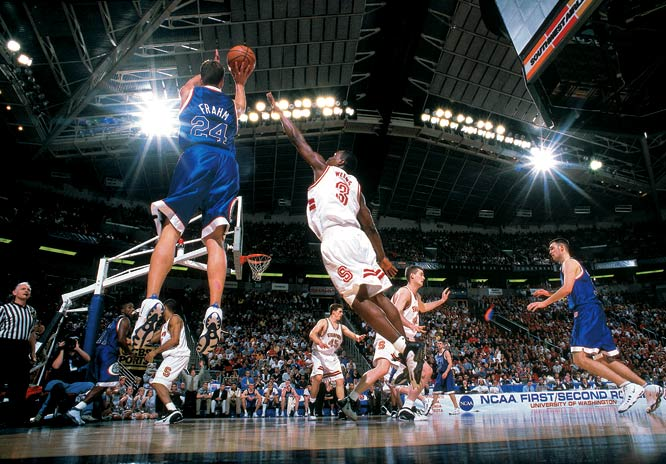 Now a perennial tournament entrant, Gonzaga was practically unknown in 1999.  Led by Matt Santangelo, Casey Calvary and Richie Frahm (all of whom have fallen into relative anonymity), the Western Coast Conference champs lost only six games coming into the tourney and earned the No. 10 seed in the West region.  They upset, in succession, Minnesota, seventh-ranked Stanford and 23rd-ranked Florida to make it to the Elite Eight, where they lost to eventual champ UConn.