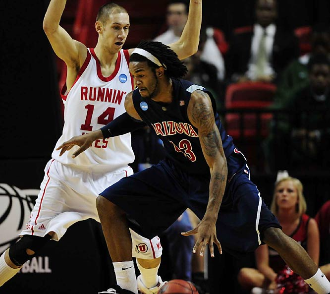 Jordan Hill's 17 points and 13 rebounds helped the 12th-seeded Wildcats -- one of the last teams into the field of 65 -- knock off fifth-seeded Utah.