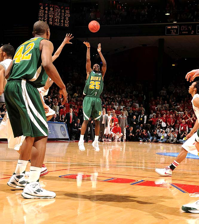 This Ronald Moore 3-pointer with 3.9 seconds left in the second overtime lifted Siena into a second-round matchup with top-seeded Louisville.