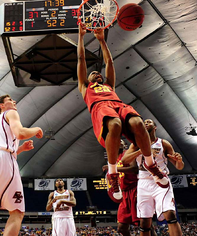 Taj Gibson was a perfect 10 for Southern California; he had 24 points on 10-for-10 shooting from the field, sending the 10th-seeded Trojans to a win over Boston College.