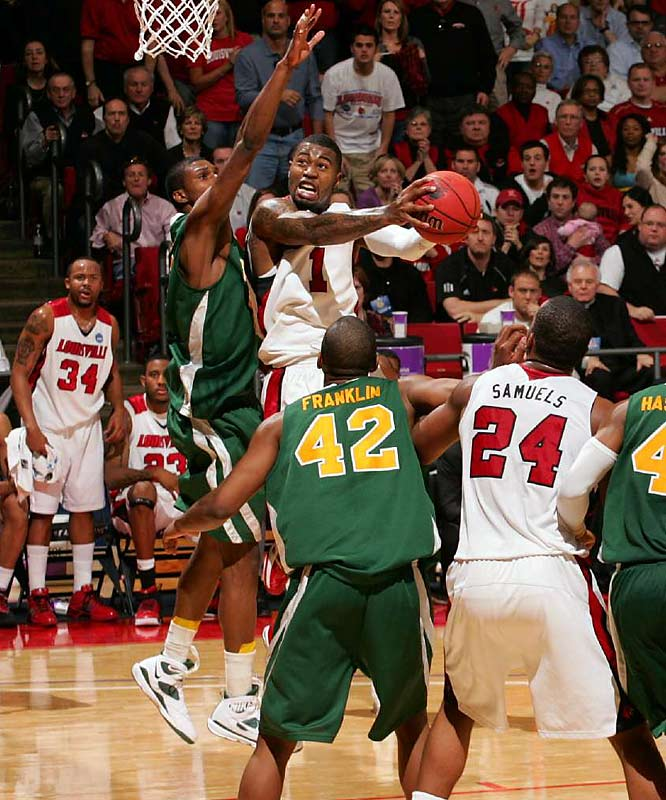 Terrence Williams led Louisville with 24 points against Siena.