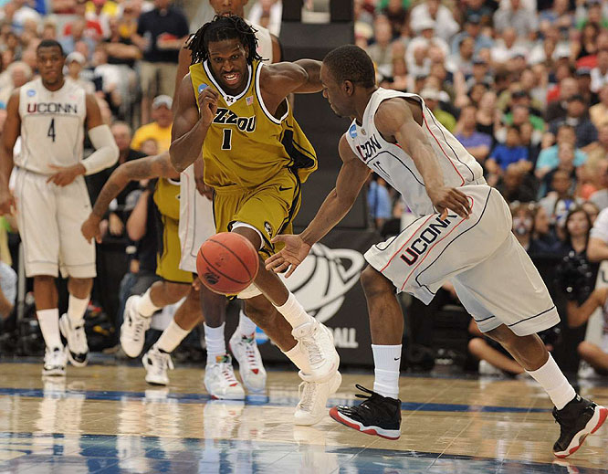 Missouri's DeMarre Carroll posted 12 points and four rebounds in a losing effort.