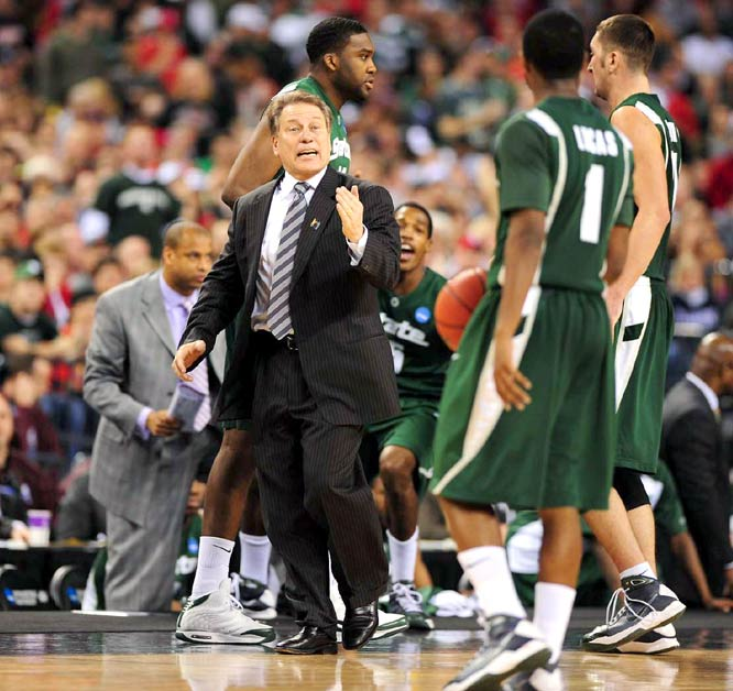With the win, Michigan native Tom Izzo has reached his fifth Final Four in 11 years in East Lansing.