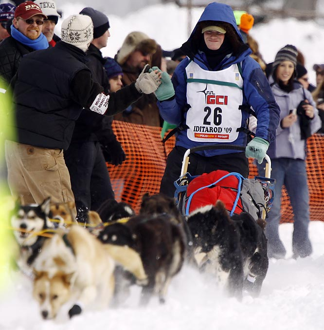 This year, 67 mushers entered the race, down from a record 96 last year.