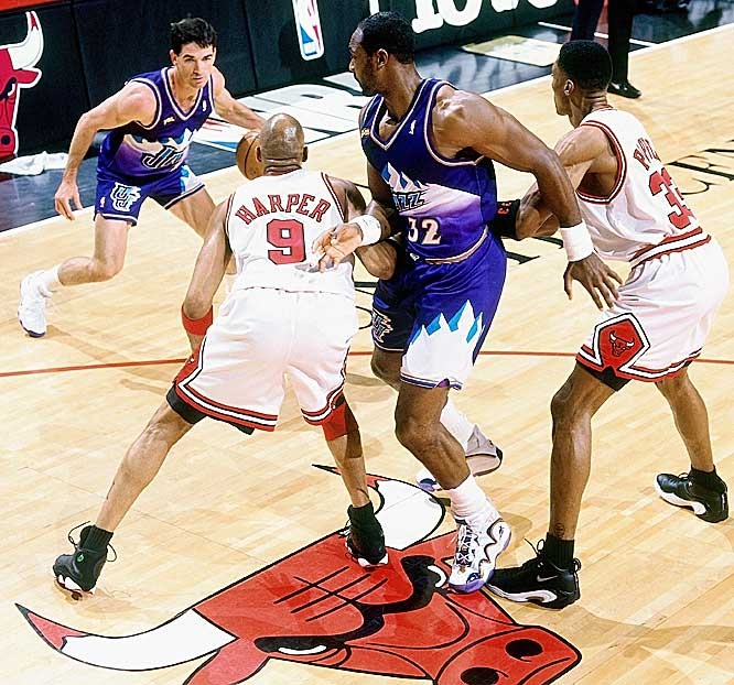 Utah's success flowed from the parternship of Stockton and Karl Malone. Behind the lethal pick-and-roll duo, the Jazz were a perennial playoff team that reached the NBA Finals twice, in 1997 and '98.