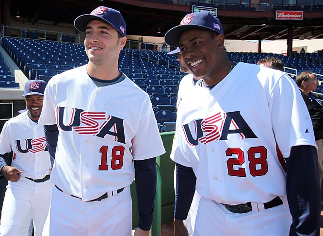 Brewers' outfielder Ryan Braun and Tigers' speedster Curtis Granderson worked out together.