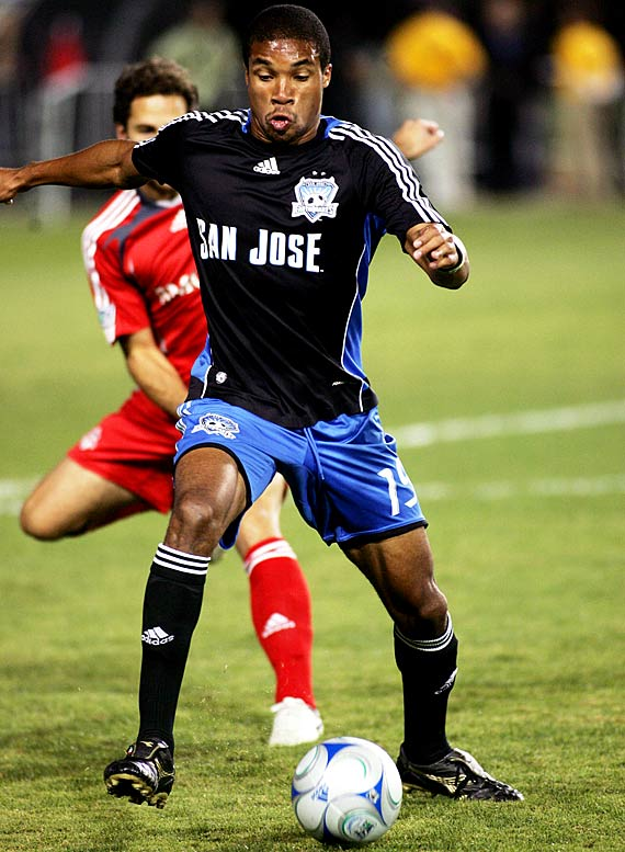 After three peripatetic years -- including a cup of coffee in the pro indoor league -- Johnson finally found a home in NorCal. Fast and feisty, the 24-year-old Jamaican, who was raised outside of Boston, snagged five goals in '08 and looks set to be the epicenter of the Quakes attack.