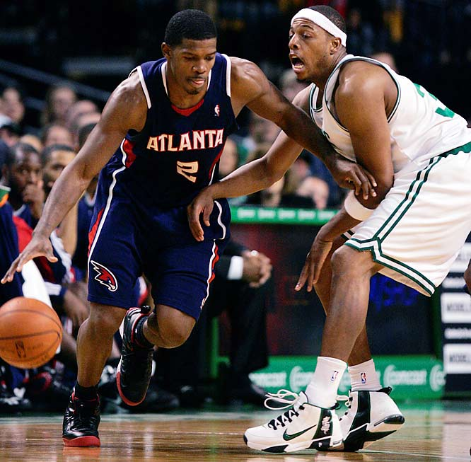 Atlanta is developing a reputation for playing Boston tough, pushing the Celtics to seven games in a first-round series last season and losing two meetings this season by a combined four points. Joe Johnson and the Hawks, who entered the week with a 27-7 record at Philips Arena, will play host to the Spurs two days before this game and then welcome the Lakers two days after this one.