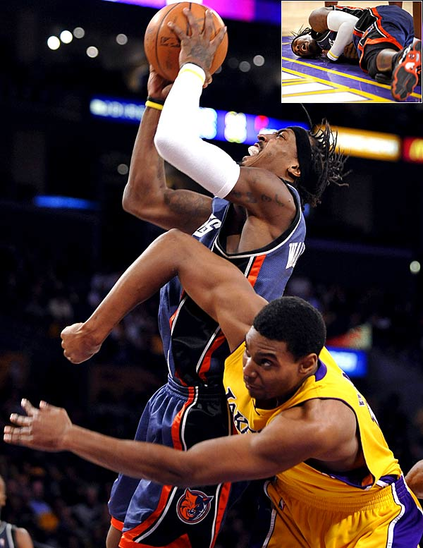 Their first meeting in January left the Lakers bruised with a rare home loss and the Bobcats battered after Gerald Wallace suffered a collapsed lung when he was fouled hard by Andrew Bynum. A rare double-revenge game awaits.