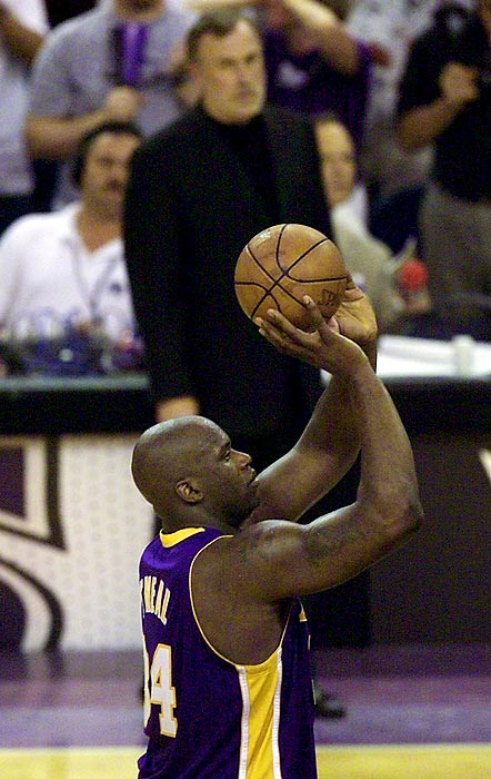 "After making a surprising 12-of-14 free throws in Game 2 of the 2002 Finals against New Jersey, Shaq thanked the then-Kings coach for motivating him. It was Adelman who complained about O'Neal's stepping over the line on free-throw attempts during the Western Conference finals that season.  ""I'm at home, I'm in the bathroom, trying to [do my business], flipping through the channels, and he's complaining [on TV] about how I'm stepping over the line. I can't even do a No. 2 in peace. ... So that game's dedicated to him. Can I go one day without somebody saying something negative about me?"""