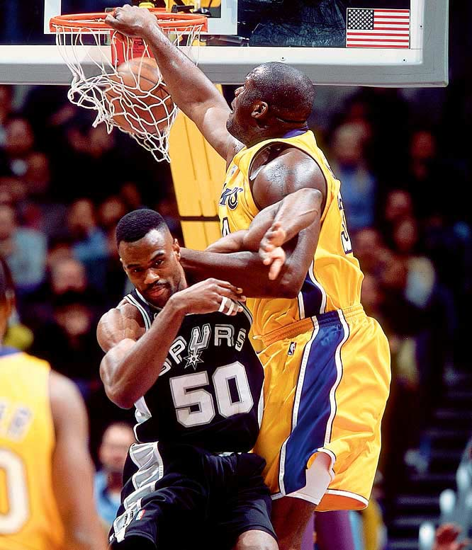Apparently upset with the Admiral for his tepid response to O'Neal's autograph request years earlier, Shaq referred to him as ''Punk Ass David Robinson'' in his book  Shaq Talks Back . O'Neal also wrote that he wanted to dominate Robinson on the court ''because I got tired of the goody-two-shoes image he was throwing out there.''