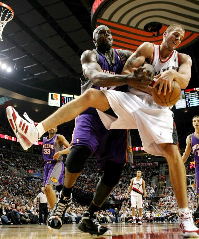 "O'Neal has gone out of his way to single out the Blazers' backup center, who plays a physical style against Shaq. ""Przybilla can't guard me when I'm 27, 37 or 47,"" Shaq said in November 2008."