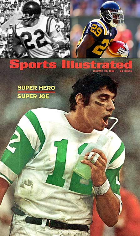The original N.Y. Titans -- a moniker that battled the NFL's Giants for Gotham-sized grandiosity -- became the Jets in 1963. No matter what you call them, mediocrity and disappointment have defined the Jets since Day 1 -- save for a miraculous afternoon in Miami in January 1969, when the Jets shocked the NFL's mighty Colts in Super Bowl III. Not only did Joe Namath & Co. lift the AFL to legitimacy that day, but also they conquered one of the greatest teams in NFL history. The 1968 Colts were the most statistically dominant team of the Super Bowl Era until being surpassed by another non-champ shocked by a New York underdog: the 2007 Patriots.