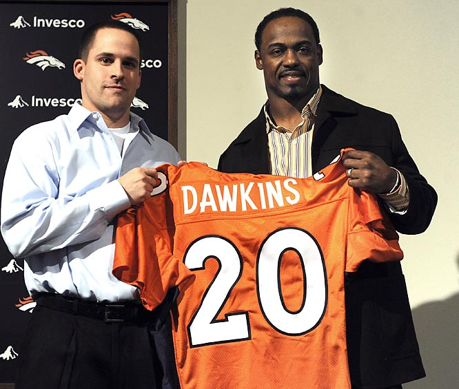 The seven-time Pro Bowl defender effectively closed the curtain on his 13-year career with Philadelphia when he signed a five-year, $17 million deal with the Broncos.  Dawkins earned a Pro Bowl nod in 2008 and will seek to repeat his success in the Mile High City.
